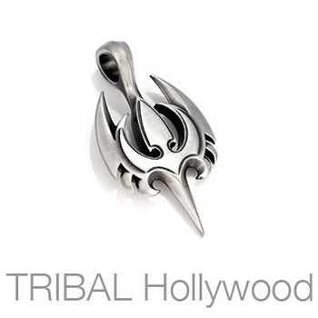 AEGIS Spiked Bird Necklace Pendant in Silver by Bico Australia