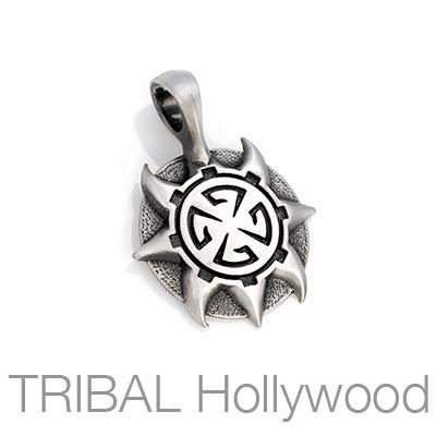 THE ATTICUS Spiked Medallion Necklace Pendant by BICO Australia