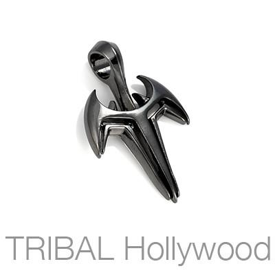 NEMESIS BLADE Necklace Pendant in Gunmetal by Bico Australia