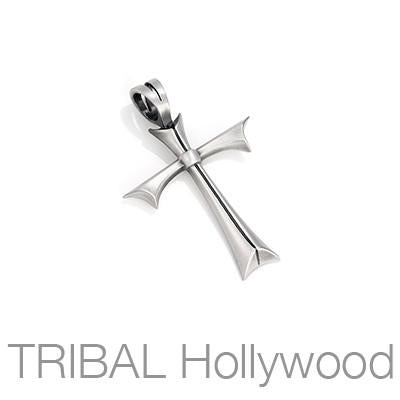 Bico Fated Cross Classic Small Mens Cross Necklace Pendant