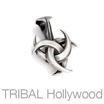 TRICRESCENT Three Crescent Moon Tribal Necklace Pendant by BICO Australia