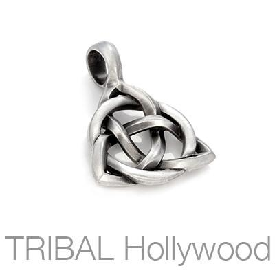 Triquetra Celtic Trinity Knot Mens Necklace Pendant by Bico