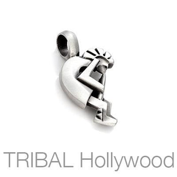 Kokopelli Music Spirit Mens Necklace Pendant by Bico