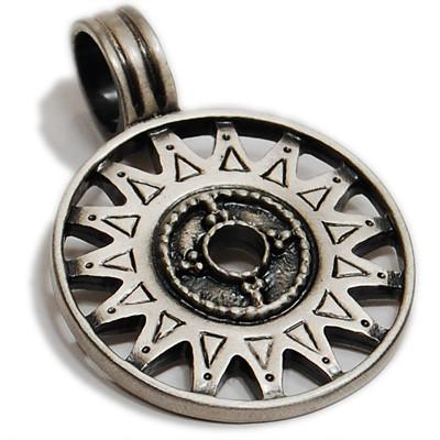 Shemesh Wisdom Sun Symbol Mens Necklace Pendant by Bico