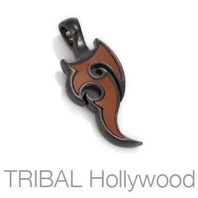 Enapay Bravery Tattoo Tribal Mens Necklace Pendant by Bico