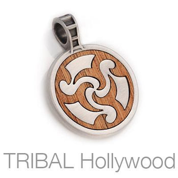 Bico Dahaka Silver Serpent God Rosewood Mens Tribal Pendant