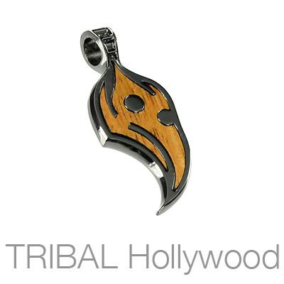 Lifeseed Phoenix Bird Rosewood Necklace Pendant by Bico