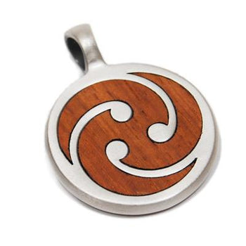 TRE Pendant in Rosewood and Silver