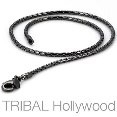 LUCKY STRIKE Gunmetal Black Chain | Tribal Hollywood