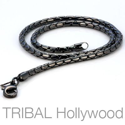 A PURE Mens All Black Gunmetal Chain | Tribal Hollywood