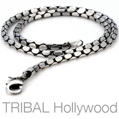 PURE Mens Silver Chain | Tribal Hollywood
