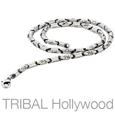 TYPHOON Link Chain Silver Necklace by Bico Australia | Tribal Hollywood