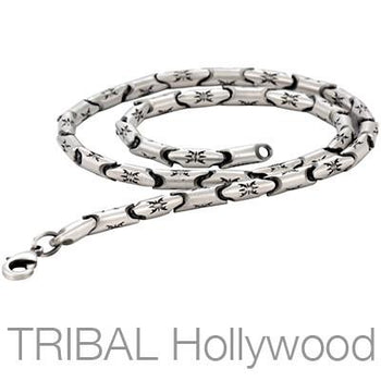 WATER STRIDER Link Chain Silver Necklace by Bico Australia | Tribal Hollywood