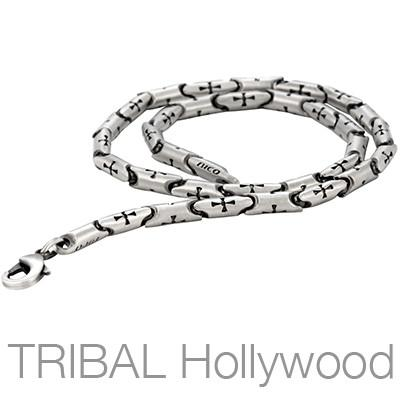 CRUSADER Cross Silver Chain Necklace | Tribal Hollywood