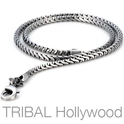 GHOST Mens Silver Chain | Tribal Hollywood
