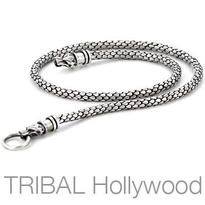 DRACO WOLF'S CLAW Medium Width Silver Necklace Chain by Bico Australia | Tribal Hollywood