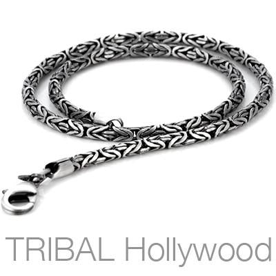 Mens Jewelry Necklace The Crown Byzantine Chain