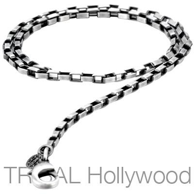 ZANZIBAR Bar Link Silver Chain Necklace | Tribal Hollywood