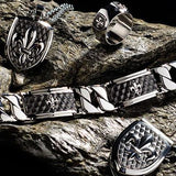 Hollis Bahringer French Quarter Fleur De Lis Steel Collection
