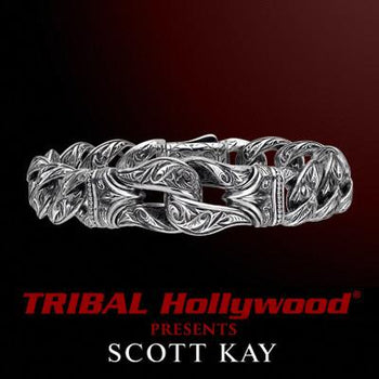 Guardian Link Sterling Silver Scott Kay Mens Bracelet
