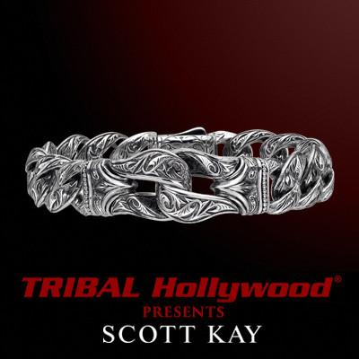 SPARTA GUARDIAN SMALL Sterling Silver Bracelet by Scott Kay