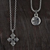 Unkaged GOTHIC CROSS Onyx Center Scott Kay Mens Sterling Silver Necklace with Cross Mead
