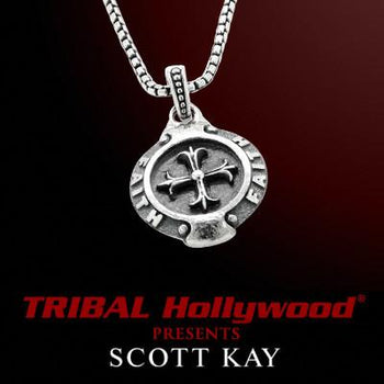 Silver Cross Mens Necklace Faith Medallion by Scott Kay