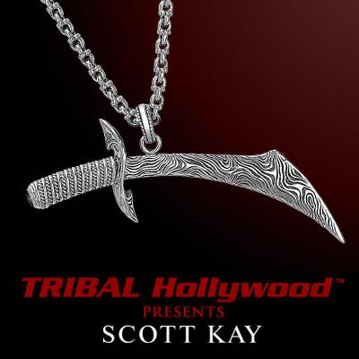 Silver Sword Mens Necklace Samurai Cutlass by Scott Kay