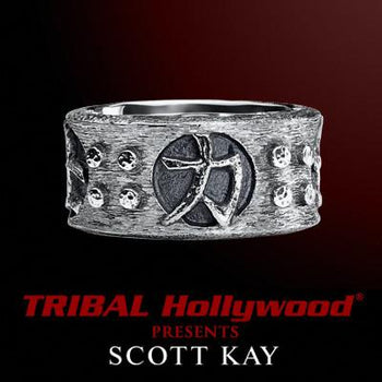 SAMURAI BAND RING Scott Kay Sterling Silver Ring for Men