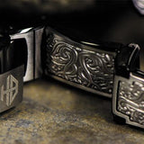 Hollis Bahringer Triumph Stainless Steel Mens Bracelet Close-up