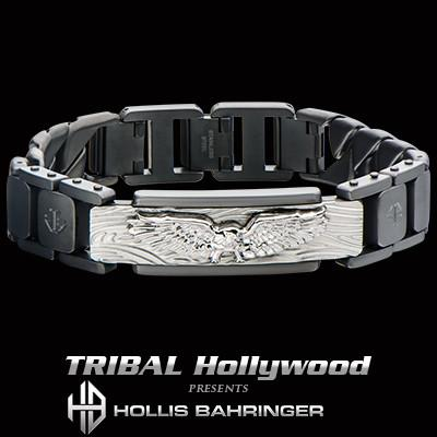 Hollis Bahringer Freedom Eagle 316L Steel Mens Bracelet