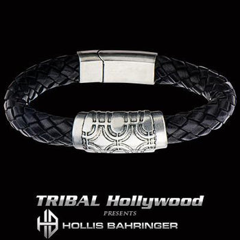 Hollis Bahringer Corium Church Relic Mens Leather Bracelet