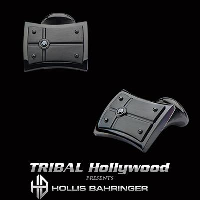Hollis Bahringer Black Armor Black Stainless Steel Cufflinks