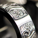 Hollis Bahringer Stainless Steel Triumph Mens Ring Close-up