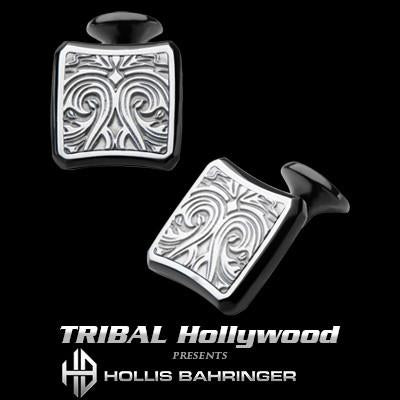 Hollis Bahringer Triumph Mens Cufflinks in Stainless Steel