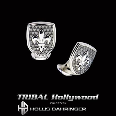 Hollis Bahringer French Quarter Fleur de Lis Steel Cufflinks