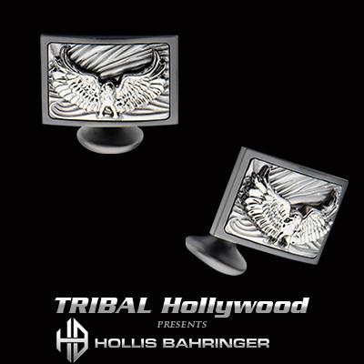 Hollis Bahringer Freedom Eagle Steel Cufflinks