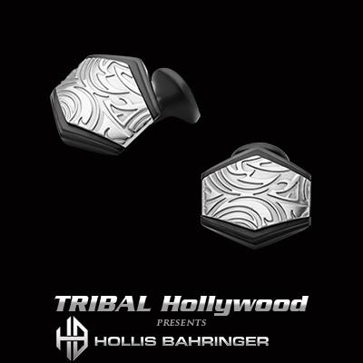 Hollis Bahringer Gotham Cufflinks with Black Stainless Steel
