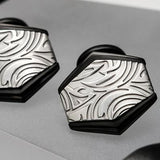 Hollis Bahringer Gotham Cufflinks with Black Stainless Steel Close-up