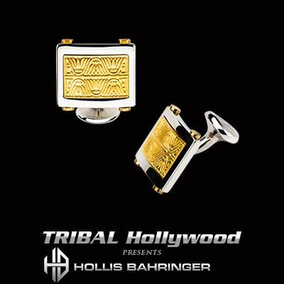 Hollis Bahringer Aurem Cufflinks in Gold IP Stainless Steel