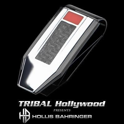 Hollis Bahringer Carbon Fiber Money Clip in Black Steel