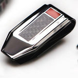 Hollis Bahringer Carbon Fiber Money Clip in Black Steel Close-up