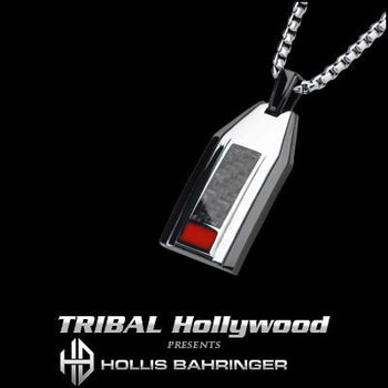 Hollis Bahringer Carbon Fiber Black Steel Mens Necklace