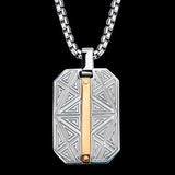 Hollis Bahringer Santa Fe Rose Gold Steel Dog Tag Necklace 1