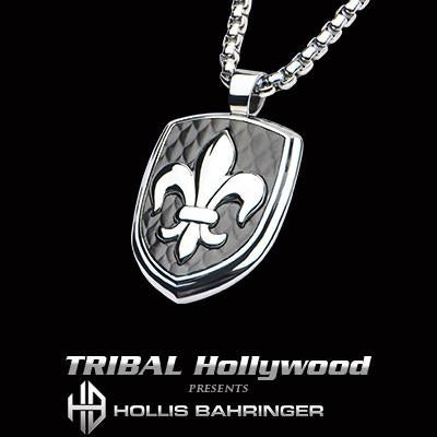 Hollis Bahringer French Quarter Fleur de Lis Steel Necklace