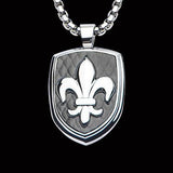 Hollis Bahringer French Quarter Fleur de Lis Steel Necklace Front View