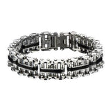 Biker Link Mens Bracelet MOTOR OIL in Stainless Steel