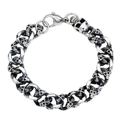 Skull Chain THE FURY BRACELET Curb Link Bracelet for Men