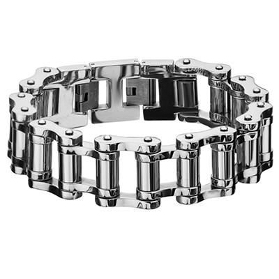Motor City Mens Bike Chain Bracelet in Stainless Steel