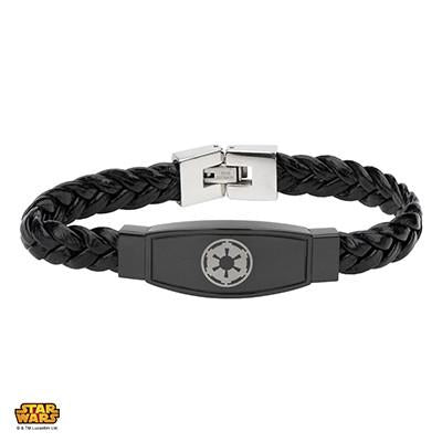 Star Wars Mens Bracelet IMPERIAL CREST in Black Steel